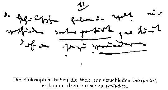 handschrift MArx