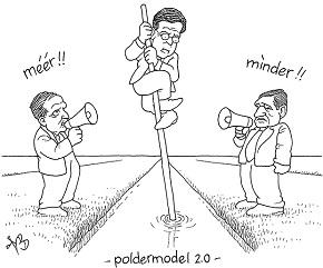 Spotprent poldermodel
