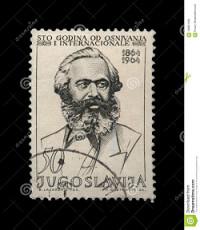 Joegoslavische postzegel met Karl Marx